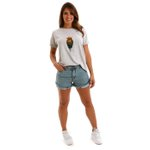Shorts Jeans Feminino Queens Green