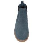 Botina Chelsea Boots ESCRETE Azul Turqueza Em Couro Camurça 502