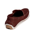 Mocassim Casual Youth Couro Bordô 5010