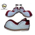 Sapato de Palhaço Branco/vermelho Ref 151