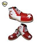 Sapato de Palhaço Branco/Vermelho com Detalhe em Estrela Branca Ref 400