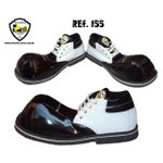 Sapato de Palhaço Preto com Detalhe Branco Ref 155