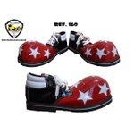 Sapato de Palhaço Preto/Vermelho/Branco com Estrelas Ref 160 infantil