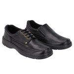 Combo 2 Pares Sapato Masculino Casual em Couro Galway 2020 Preto + 2021 Preto