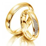Aliança para Casamento - Casamento e Noivado - Ouro 18k