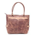 Bolsa Hipicos - Bordado Cruz - Brown
