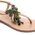 Sandália Laço Verde