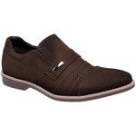 Sapato Social Masculino oxfort Couro Linha Cobalt Nobuck Café 65