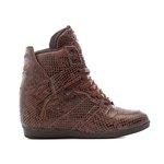 Tênis Sneaker LandFeet Cris Piza 02 Café Cobra