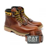Bota Caterpillar Second Shift Boot + Cinto Couro - Pull up
