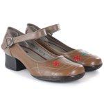 Sapato Em Couro Gracy Marrone J.Gean AC0043/07