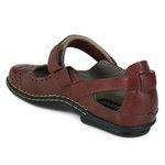 Sapatilha Em Couro Lock Confort Vermelha J.Gean