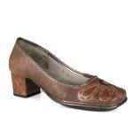 Sapato Em Couro Galeany Médio Laranja J.Gean