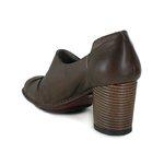 Sapato Em Couro Lolla Alto Coffee J.Gean
