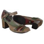 Sapato Em Couro Galeany Alto Amêndoa J.Gean