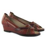Sandália em Couro Susan Vermelho J.Gean DF0012
