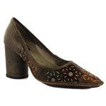 Sapato Scarpin em Couro Café J.Gean DK0003