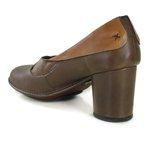 Sapato Em Couro Lolla Alto Coffe J.Gean