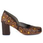 Sapato Em Couro Coffee J.Gean AR0156