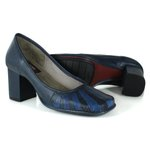 SAPATO EM COURO NAVY J.GEAN AMOSTRA ST0164-03