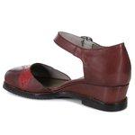 Sapato Em Couro Vermelho J.Gean ST0006-02