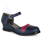 Sapato Em Couro Navy Amostra J.Gean ST0006-03