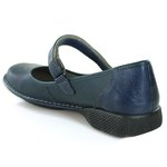 Sapatilha New Exclusiva Navy Em Couro J.Gean