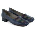 Sapato New Mariah Em Couro Blue J.Gean