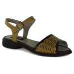 Sandália New Lauren Amarela Em Couro J.Gean