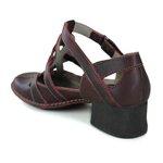 Sapato New Kelly em couro Bordô J.Gean