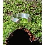 Anel Regulável Arco Aço Inox Prata