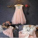 Vestido rosa com Pérolas