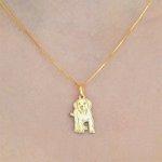 Pingente Cachorro Labrador em Ouro 18k