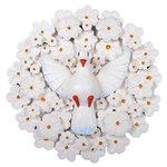Divino Espírito Santo Mandala com Esculturas de Flores Brancas 0,40 M.