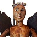 Luminária de Escultura Boneco Anjo com Bandeja 1