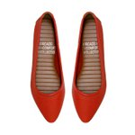Flat Comfort Bico Fino dark Orange - Salto 1,5 Cm