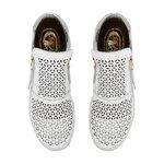 Sneakers Laser Geométrico Branco - Salto 3,5 Cm