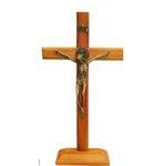 Crucifixo Madeira 19cm Mesa e Parede