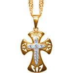 Corrente Folhado à Ouro com Cruz de Malta