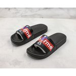 CHINELO SLIDE SUPREME BLACK RED CUSTOM
