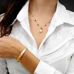 Pulseira em Ouro 18k Bracelete com Desenhos Egípcios