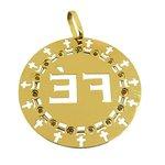 Mandala Fé em Ouro 18k cravejada com Zircônias