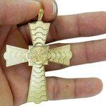 Crucifixo com São Jorge em Ouro 18K Grande
