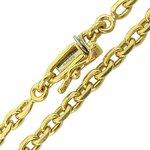 Corrente Maciça Modelo Cartier em Ouro 18K 60cm