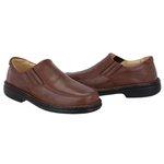 Sapato Anti-Stress em Couro Cor Chocolate Ref.1418-5000