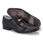 Sapato Social Tipo Italiano em Couro Preto REF. 1441-4209