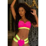 CROPPED NEON CHICLETE