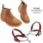 Kit Infantil com Botina Mangalarga Infantil + Espora Inox Infantil