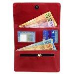 Bolsa + Carteira Selten Handbag Sanfonada Feminina Vermelha
