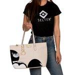 Bolsa Feminina Mickey Creme